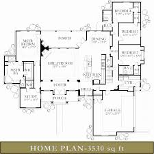 3500 square feet best of one story house plans 3500 square feet house plan