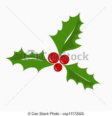 vector illustration of christmas holly berry christmas symbol