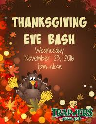 thanksgiving cartoon specials thanksgiving eve bash trappers pizza pub