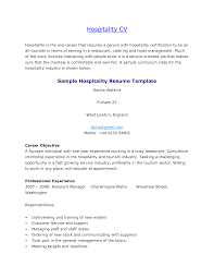Sample Resume Objectives Tourism by Hospitality Resumes Free Resume Example And Writing Download