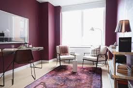 couleur peinture bureau design interieur couleur prune peinture murale prune déco bureau