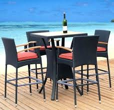 High Bistro Table High Top Patio Table And Chairs Patio Furniture High Table Bistro
