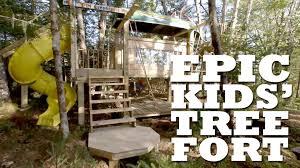 epic kids u0027 tree fort youtube