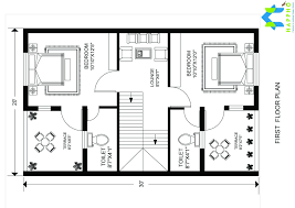 Row House Floor Plans 3 Bhk Floor Plan For 30 X 20 Feet Plot 600 Square Feet