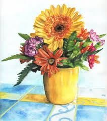 How To Paint A Flower Vase Pigments Through The Ages Watercolor