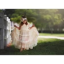 country wedding flower dresses rustic flower dress chagne chiffon lace flower dress