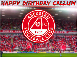 a4 aberdeen football club fc edible icing wafer birthday cake