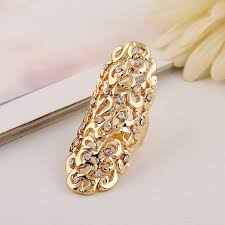 long gold rings images 2pcs women hollow out carving rings silver color floral carving jpg