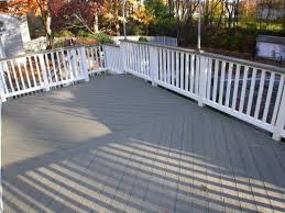 flooring grey evergrain decking matched with white railing for