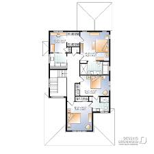 plan chambre bébé plan de maison unifamiliale gambrel 2 w2889 v1 dessins drummond