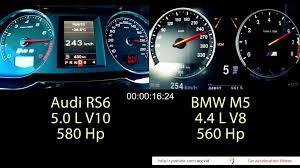 lexus vs audi vs bmw audi rs6 vs bmw m5 0 300 km h onboard accelerationacceleration videos