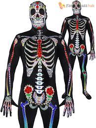 day of the dead costume mens day of the dead costume sugar skull skeleton skinsuit