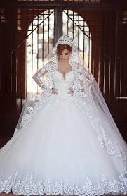 Wedding Dress With Train Gorgeous Long Sleeve Lace Ball Gown Wedding Dress 2016 With Train