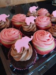 Pink And Gray Baby Shower Cupcakes Baby Shower Cakes Elephant