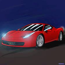 ferrari sport car drawn ferrari sports car pencil and in color drawn ferrari