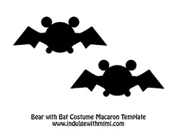 baby pooh bear macarons with batman halloween costumes template