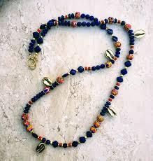 long blue necklace images Moroccan berber necklace african krobo necklace berber pride JPG