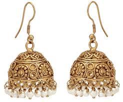 gold earrings jhumka design designer earrings jhumka designs in gold 1