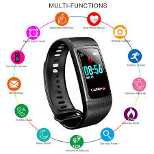 bracelet tracker images Lemfo smart bracelet color lcd screen ip67 waterproof heart rate jpg