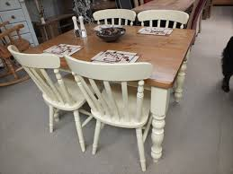 Farmhouse Painted Dining Kitchen Tables Farrow  Ball Dorset - Cream kitchen table