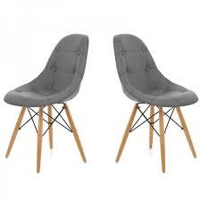 chaise capitonn e grise chaise capitonnee gris lot de 2 achat vente chaise gris