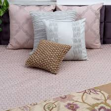 buy ombre circle blush embroidered and quilted cotton bedcover