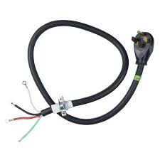 shop whirlpool 4 ft 4 wire black dryer appliance power cord at