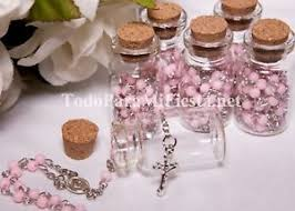 rosary favors for baptism quinceanera recuerdos favors baptism keepsake rosary favors pink