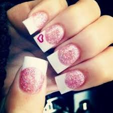 current solar nails french tips with sparkles i u0027m in love