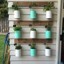 Hanging Herb Planters Formula Tins Reused For Our Herb Vertical Garden Supplies All