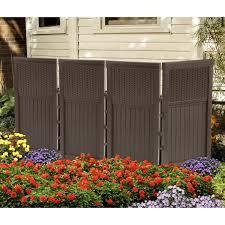 suncast resin 4 panel outdoor screen enclosure mocha brown