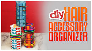hair accessories organizer diy hair accessories organizer made from paper rolls do it