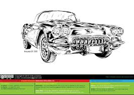 vintage corvette drawing corvette c1 1954 sketch by oleglevashov on deviantart