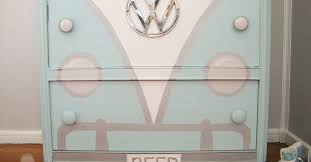 volkswagen bus painted dresser hometalk