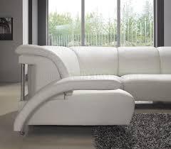 leather modern u shaped sectional sofa w shelves