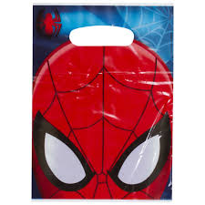 party city halloween bags spiderman folded loot bags big w