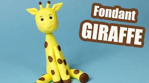 giraffe cake topper giraffe cake topper tutorial how to make fondant giraffe