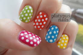 loonyplatypus nails day 11 polka dot nails