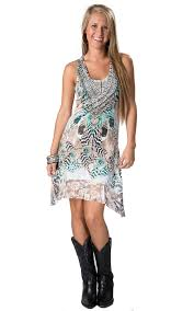panhandle slim women u0027s feather sublimation print with lace back
