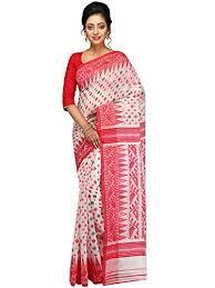 dhakai jamdani sarees pinkloom women s dhakai jamdani saree in muslin white at