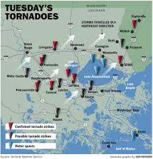 Bourbon Street New Orleans Map by New Orleans Area Severe Weather Damage Map Laplace Hit Hardest