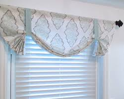 Blue Valances Window Treatments Custom Made Tie Up Valance Light Blue White By Supplierofdreams
