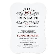 vintage aged to perfection funny birthday invite vintage 16th