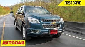 chevrolet trailblazer chevrolet trailblazer first drive video review autocar india