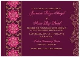 wedding invitations indian indian wedding invitations rectangle landscape purple flower