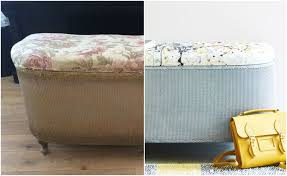 Upcycle Ottoman 1960s Ottoman Is Completely Transformed With Handpainted