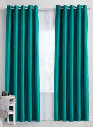 Blackout Curtains Teal Plain Faux Silk Blackout Thermal Eyelet Curtain Bhs