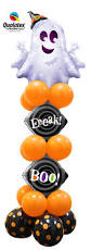 halloween foil balloons a friendly silver and sparkly ghost tops this fun halloween black