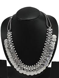 necklace silver online images Buy german silver oxidised necklace online at low prices in india jpg