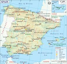 Zaragoza Spain Map by Spain Map Showing The Major Cities Airports Roads Etc Maps
